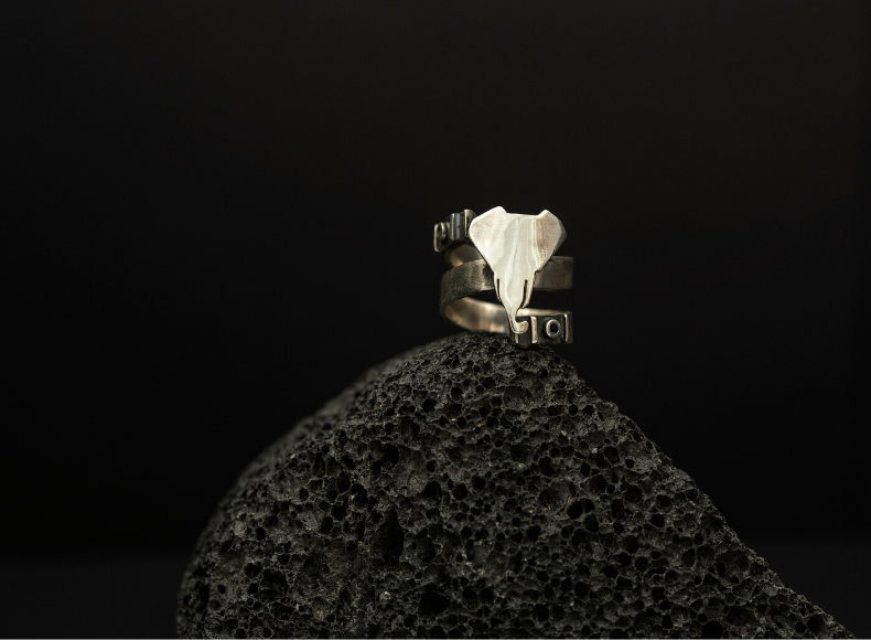 Elephant Motive Ring jewelry image