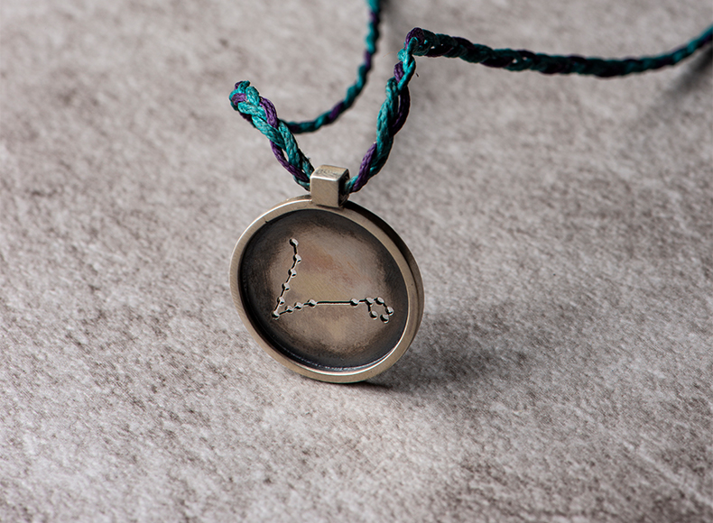 Pisces Pendant in Frame jewelry image